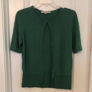 LOFT Sweaters - LOFT Green Cardigan